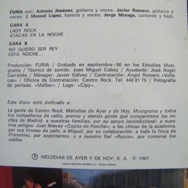 FURIA – Lady Rock, 1987
