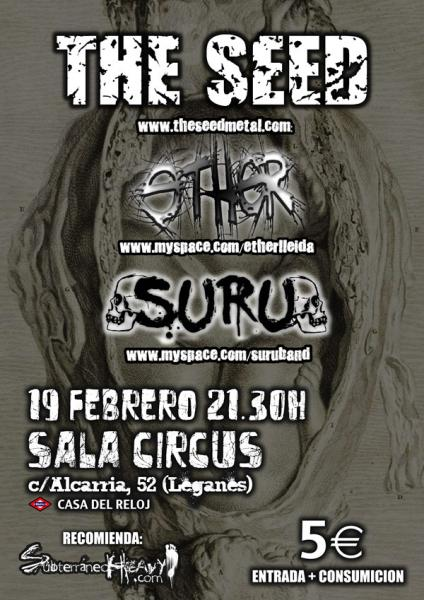 THE SEED, últimos conciertos en España