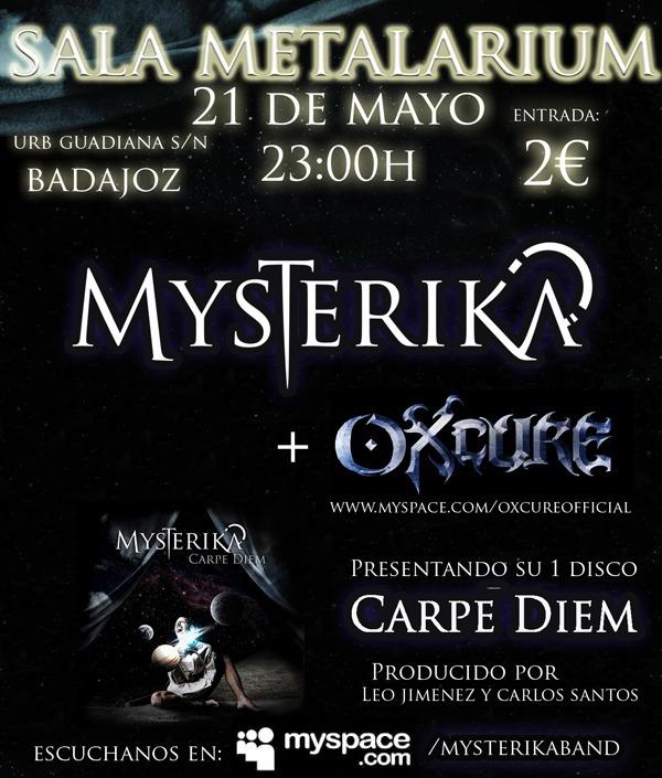 MYSTERIKA, en concierto