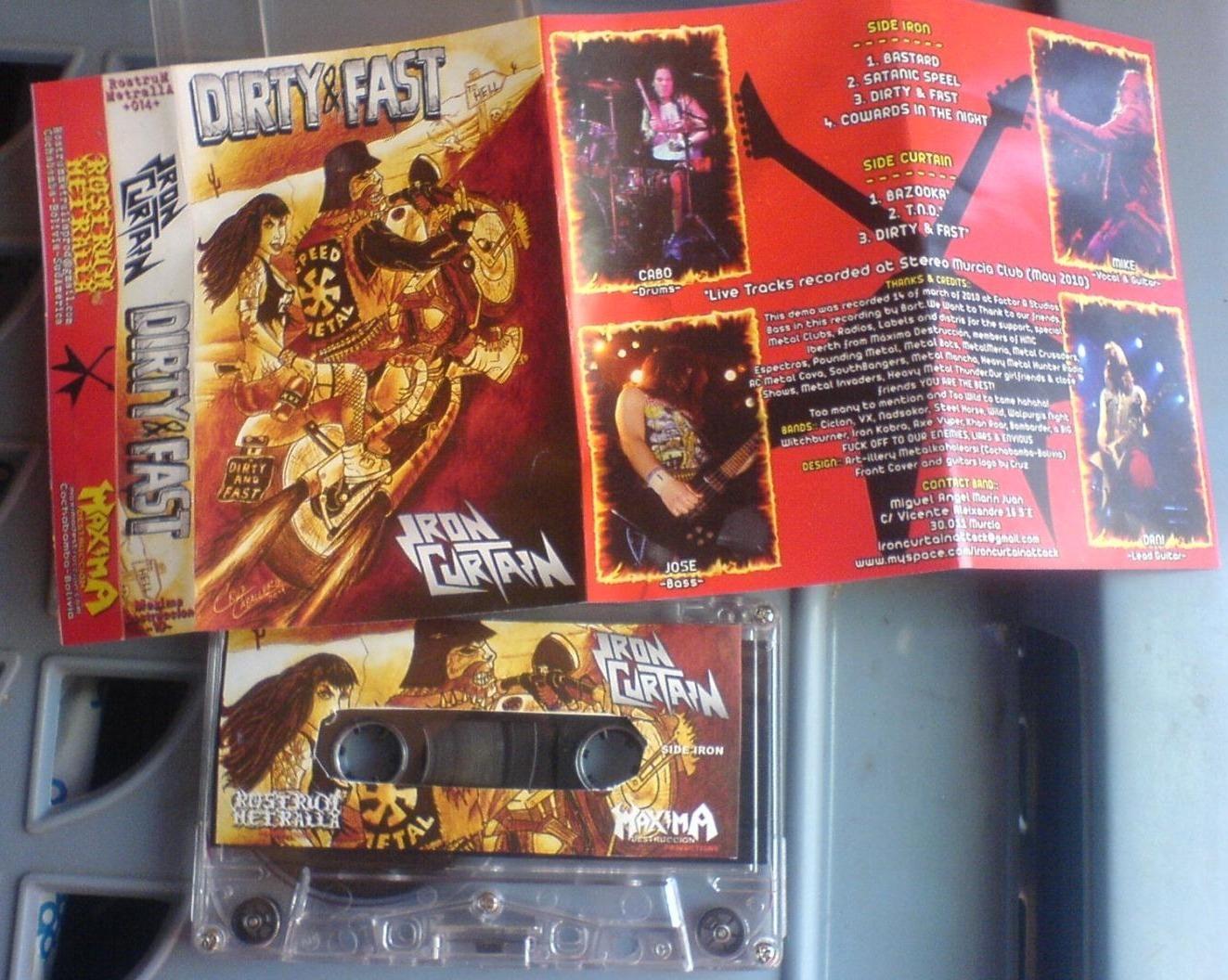 IRON CURTAIN reeditan su anterior demo en formato cassette.