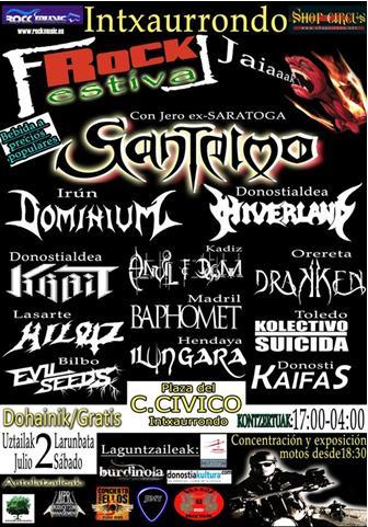 I Intxaurrondo Rock Fest, 2 de Julio
