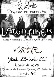 LAW MAKER Y NICTE en concierto