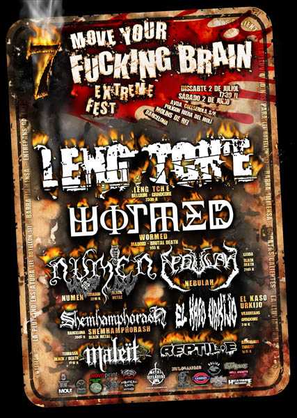 Move Your Fucking Brain Extreme Fest VII, 2 de Julio