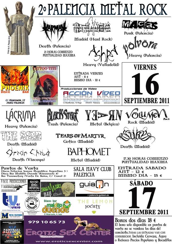PALENCIA METAL ROCK, 16 y 17 de septiembre