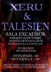 TALESIEN+XERU, en concierto 22 de octubre.