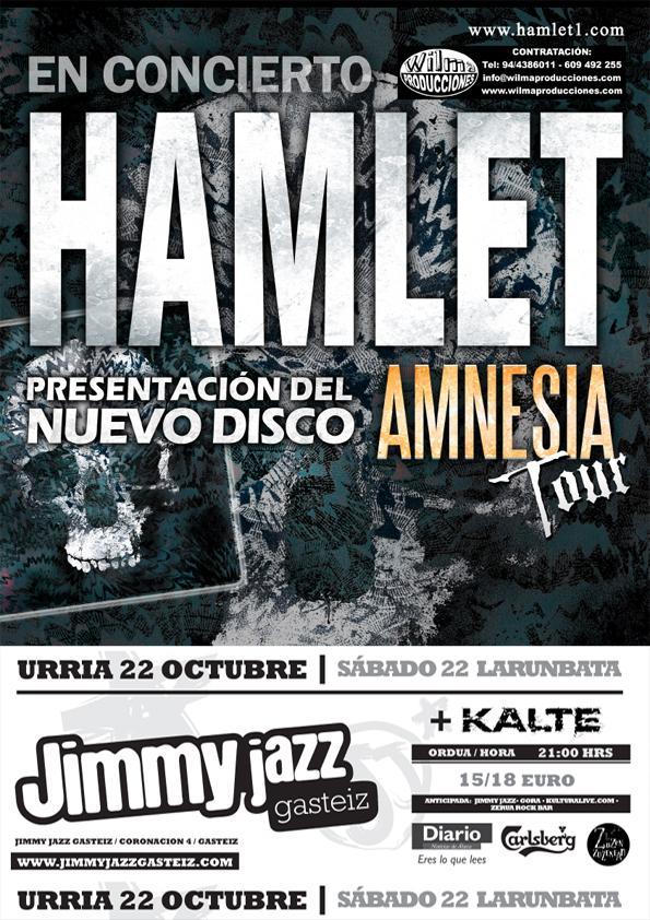 HAMLET en concierto – 22 de octubre, Vitoria.