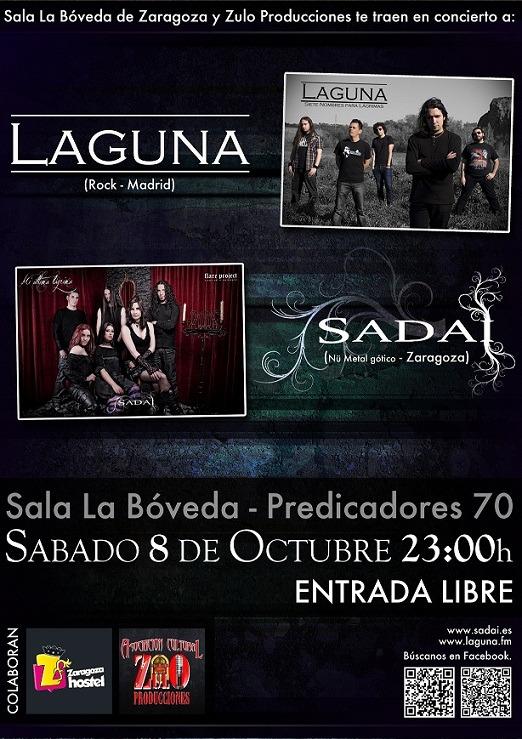 SADAI+LAGUNA, en concierto el 8 de octubre.
