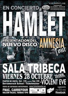 HAMLET – Presentación «Amnesia» en Oviedo – 28/10