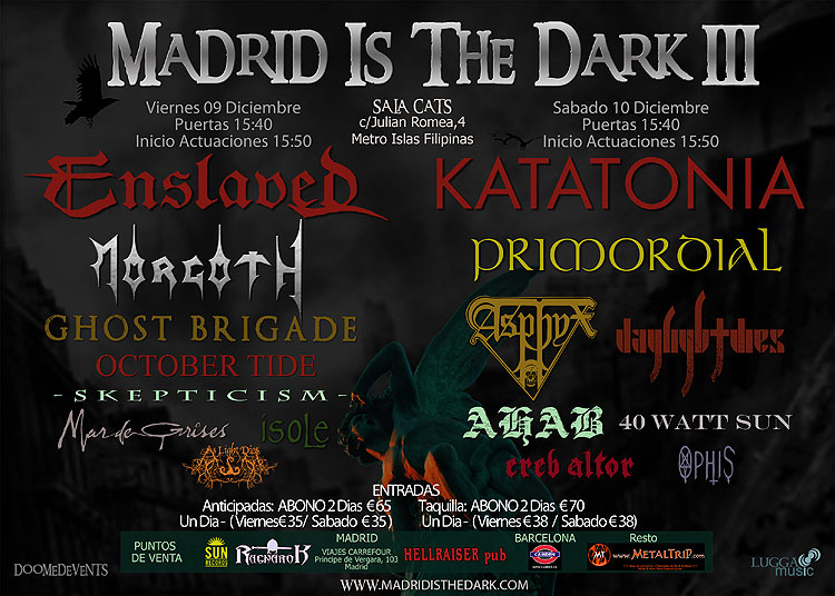 MADRID IS THE DARK – Cambio de sala