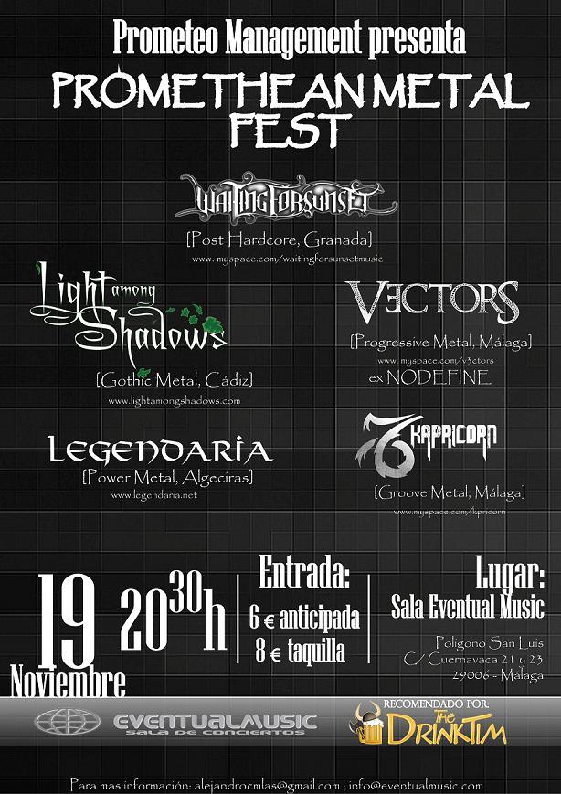 PROMETHEAN METAL FEST – Horarios