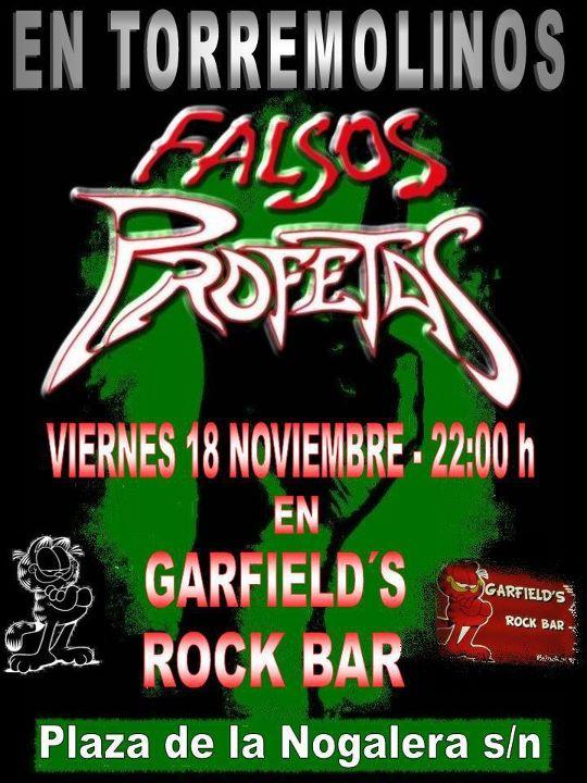 FALSOS PROFETAS actuarán en Málaga.
