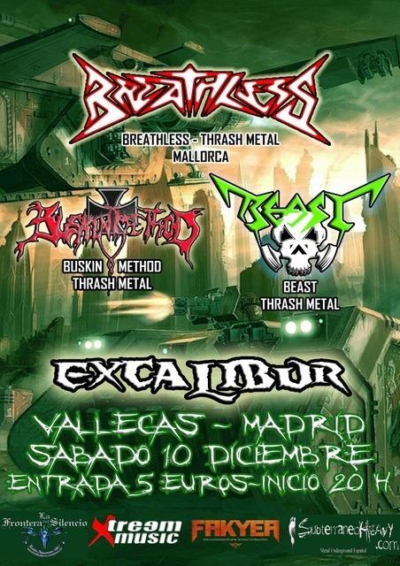 Thrash Metal en Madrid – 10/12/11