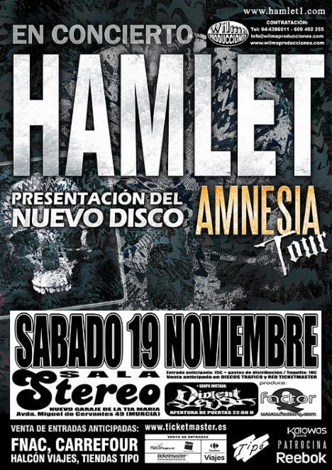 HAMLET + VIOLENT EVE este sábado en Murcia
