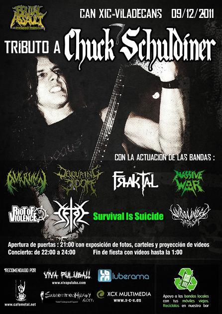 Cartel del Tributo a Chuck Schuldiner – 9 de diciembre