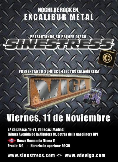 VIGA en directo, Sala Excalibur de Madrid.