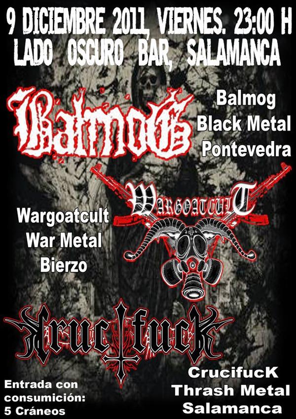 BALMOG+WARGOATCULT+CRUCIFUCK, en concierto.