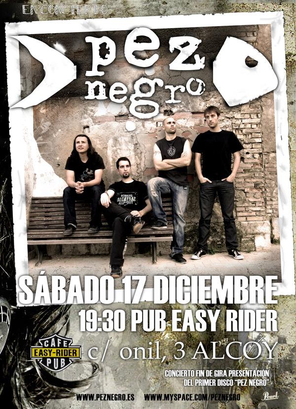 PEZ NEGRO, en concierto sábado 17 de diciembre.
