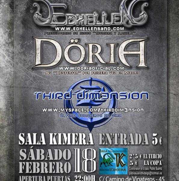 EDHELLEN + DORIA + THIRD DIM3NSION, en concierto.