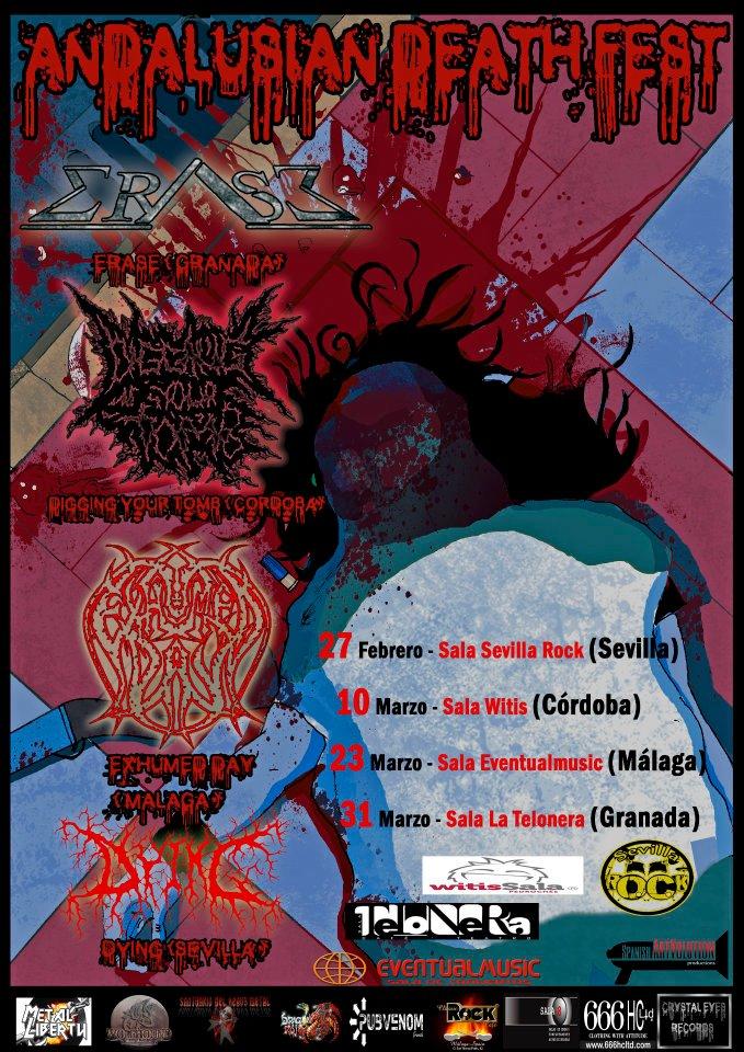 ANDALUSIAN DEATH FEST, mini tour extremo en el sur.