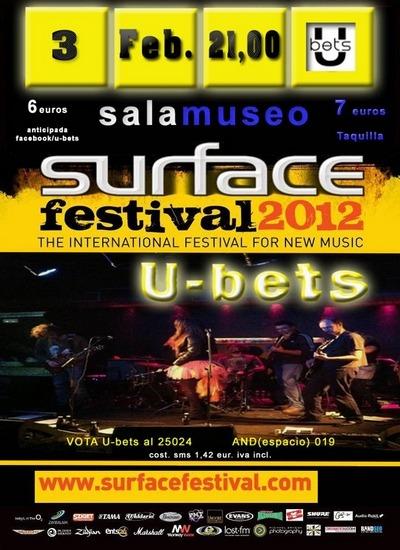 U-BETS en concierto el día 3 de febrero.