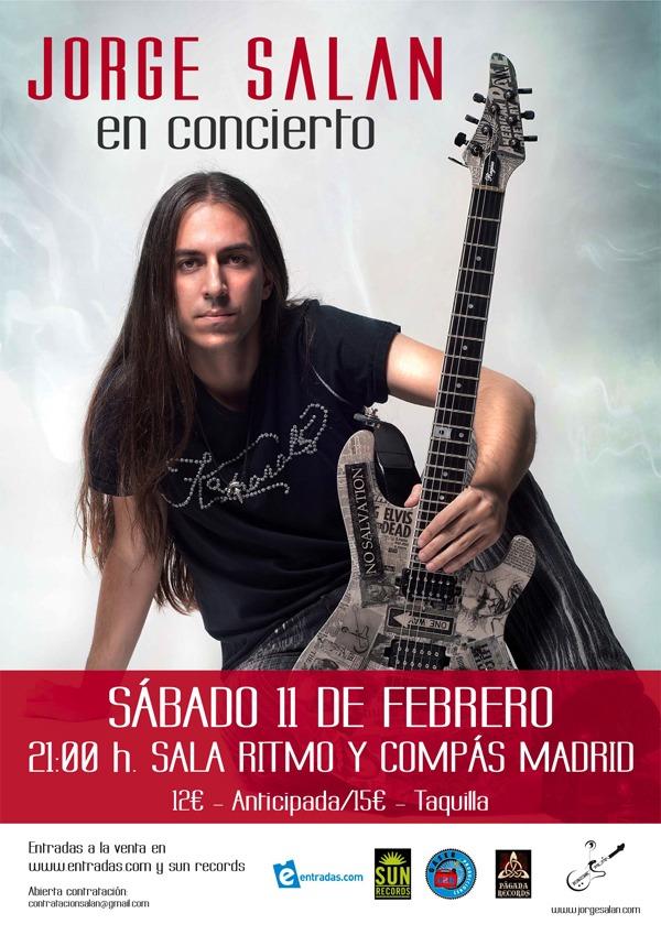 Jorge Salán, en concierto el 11 de febrero.