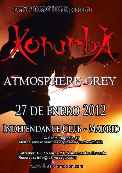 KORUMBA + ATMOSPHERE GREY hoy viernes 27 en Madrid