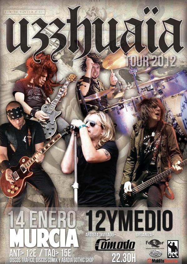UZZHUAÏA, concierto en Murcia el 14 de enero.