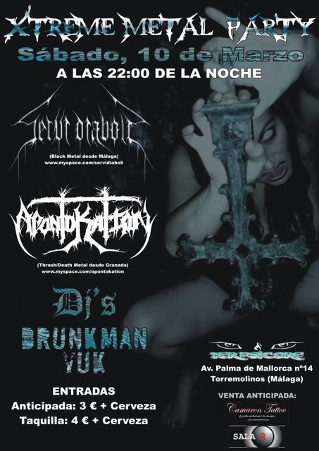 XTREEM METAL PARTY con APONTOKATION y SERVI DIABOLI.