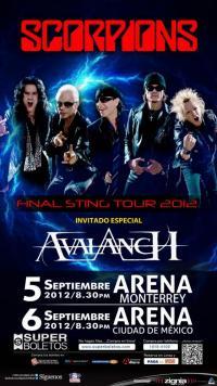 AVALANCH será el invitado especial de la gira despedida de SCORPIONS