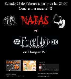 Concierto este sábado en Madrid: FUCKLAND + NATAS