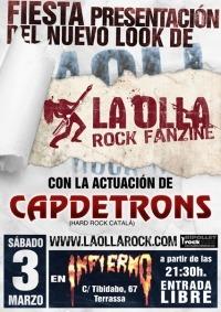 CAPDETRONS – En la fiesta de presentación de La Nueva Olla Rock Fanzine