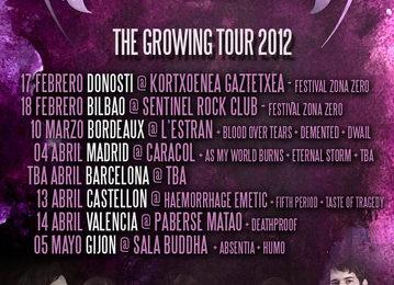 "NAMI, fechas de""The Growing Tour 2012"""