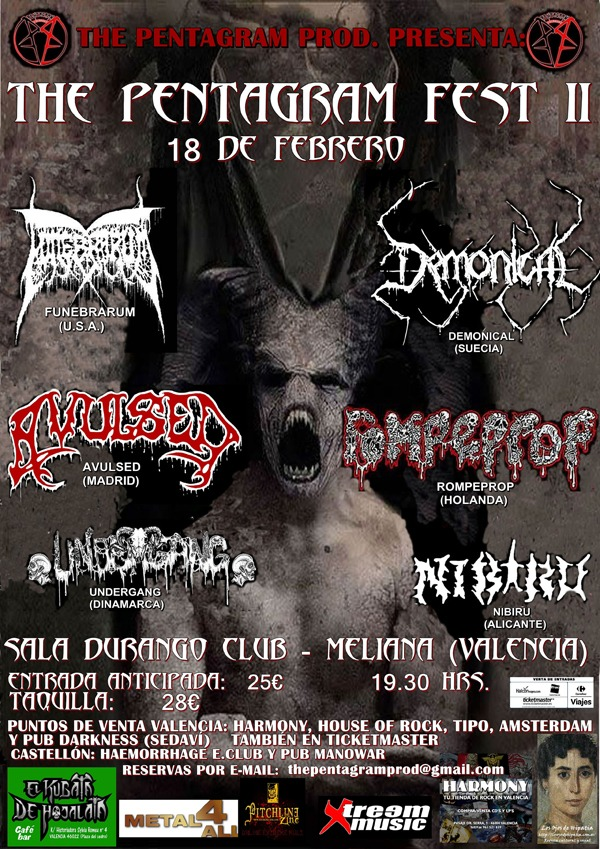 THE PENTAGRAM FEST II- 18 de febrero