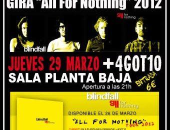 BLINDFALL: fechas de su gira «All For Nothing» 2012