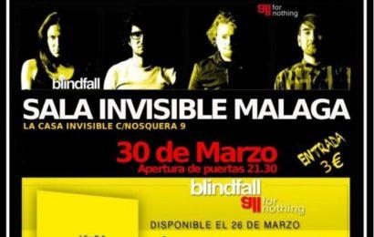 BLINDFALL actúan este viernes 30 en Málaga y nos hablan de ello
