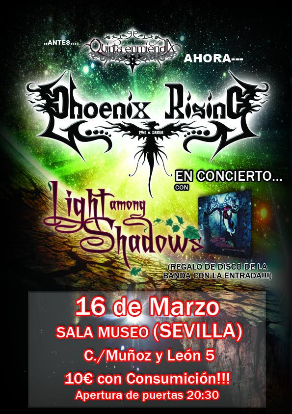 LIGHT AMONG SHADOWS en directo este viernes en Sevilla.