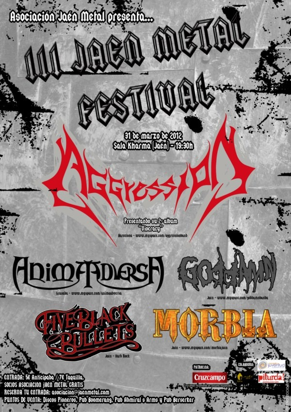 Horarios del III Festival Jaén Metal (31 de marzo)