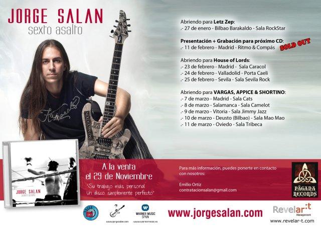JORGE SALÁN de gira esta semana