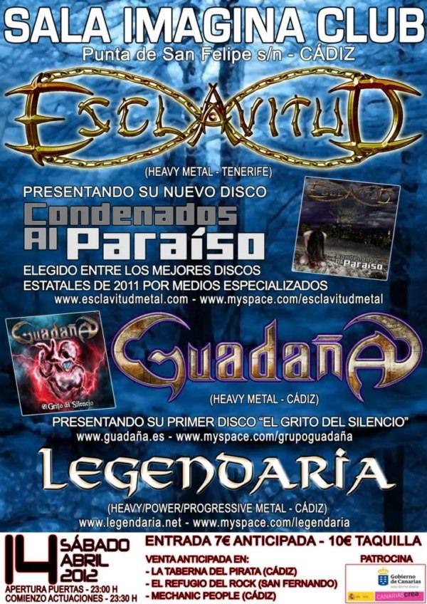 LEGENDARIA + ESCLAVITUD + GUADAÑA en Cádiz