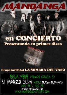 MANDANGA (ex ESTRAGO) en concierto, 31 de marzo