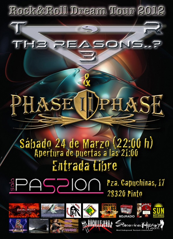 TH3 REASONS y PHASE II PHASE, en concierto