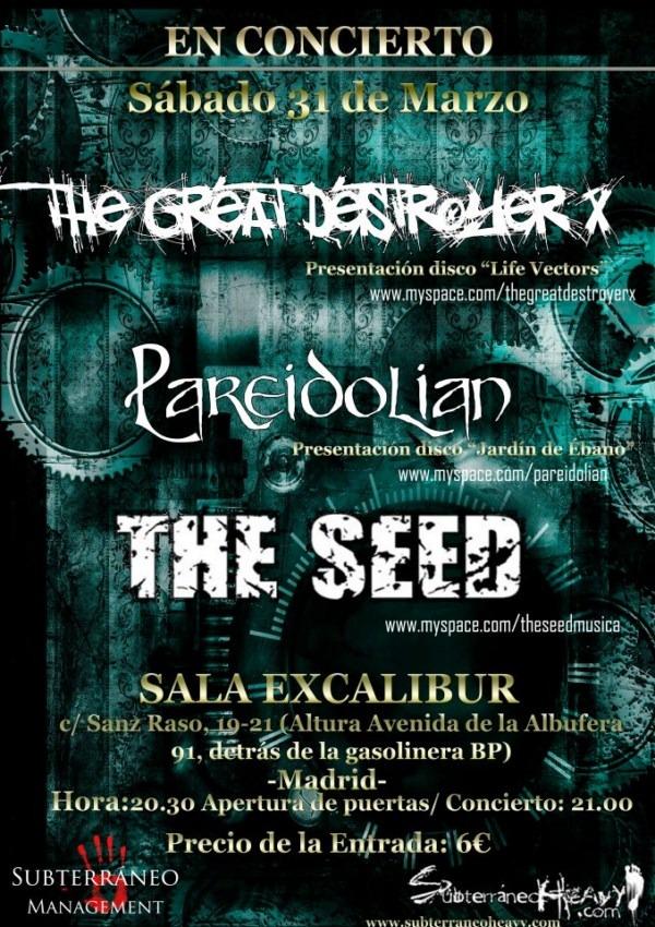 PAREIDOLIAN + TGDX + THE SEED – Entrevista – 19/03/12