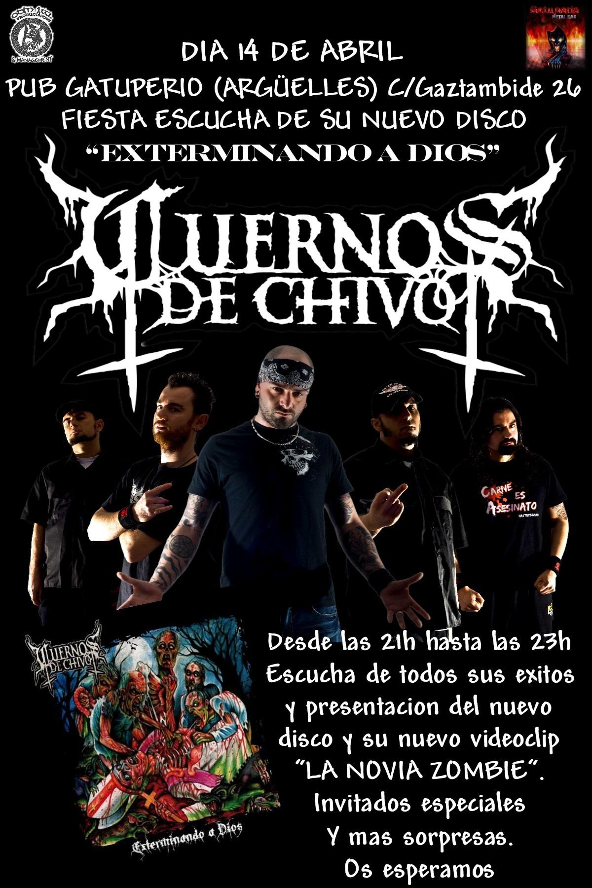 Presentacion nuevo disco de CUERNOS DE CHIVO