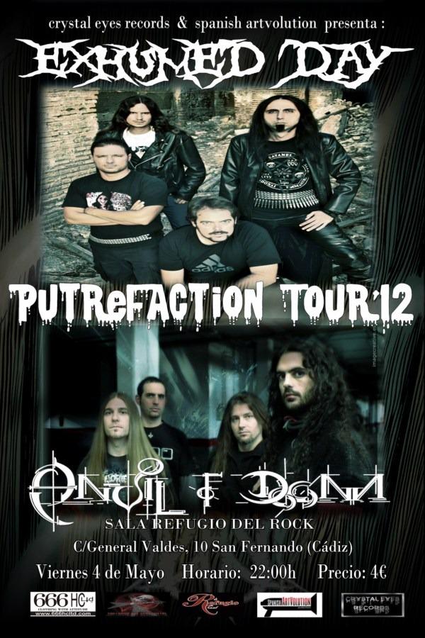 Putrefaction Tour'12: EXHUMED DAY y ANVIL OF DOOM