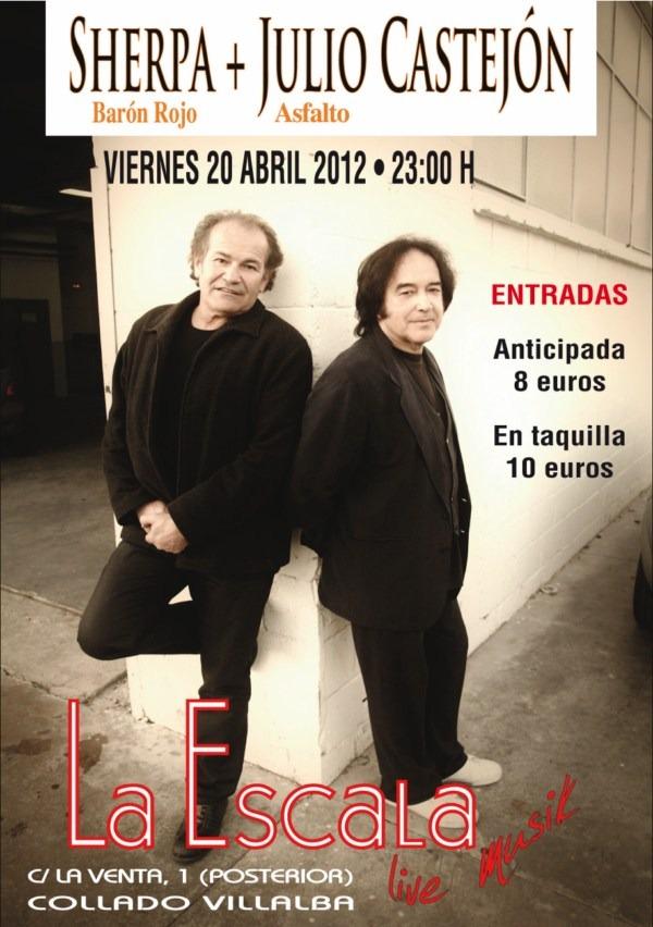 JULIO CASTEJÓN y SHERPA este viernes en Collado Villalba