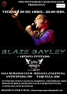 BLAZE BAYLEY + LAW MAKER en Valencia