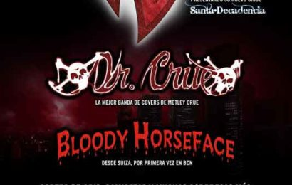 REGRESION + DR. CRÜE + BLOODY HORSEFACE (SUI), 28 de Abril en Bcn