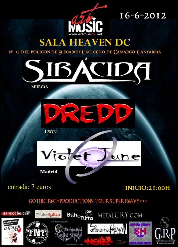 Festival ARTMUSIC con… SIRÁCIDA, DREDD y VIOLET JUNE