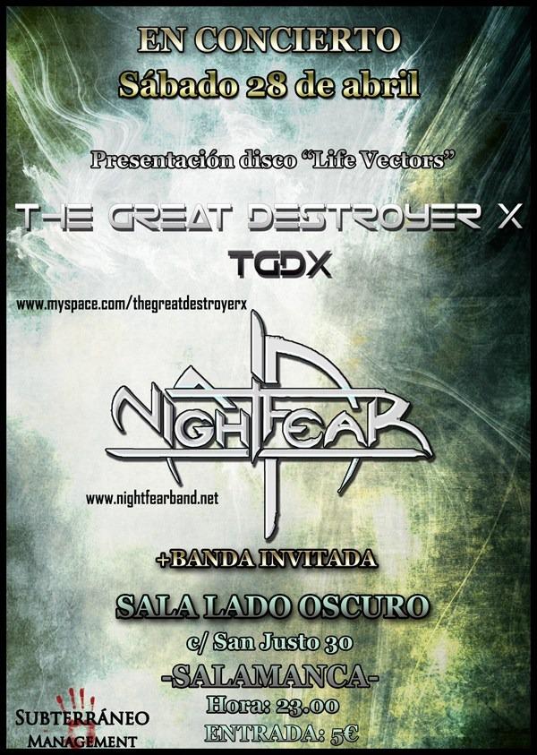 THE GREAT DESTROYER X y NIGHTFEAR en Salamanca