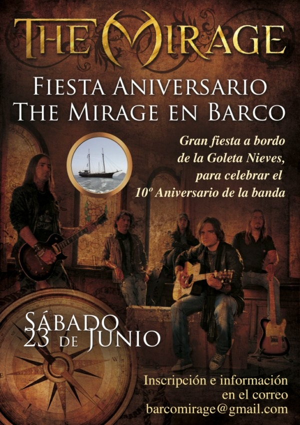Fiesta aniversario THE MIRAGE en barco